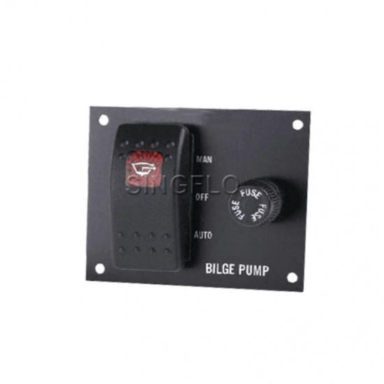 Sale Bilge Pump Switch Panel Auto Off Manual Rocker Switch