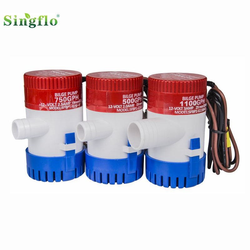 Singflo 1100gph bilge pump with float switch for boat marine