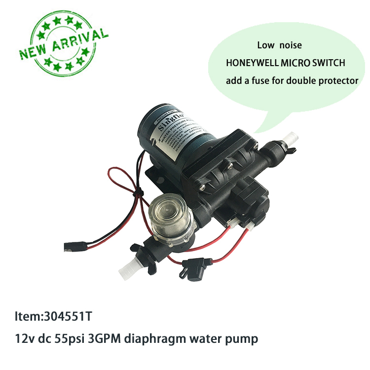 Singflo New 4 diaphragm pump 3GPM Flow with low noise